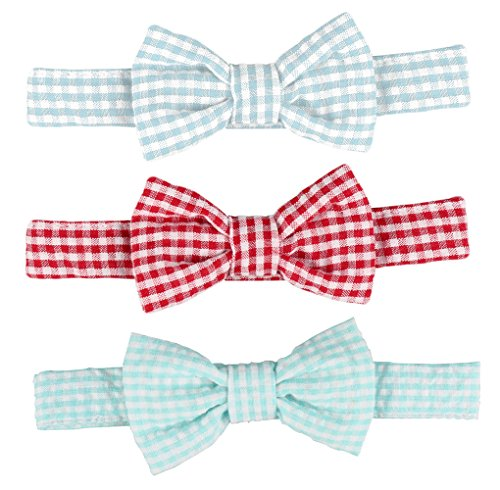 Laribbons Infant Baby Boys Neck Self Tie Plaid Bowtie Pack of 3