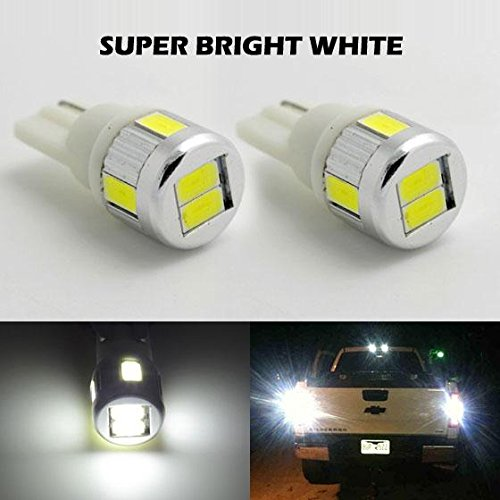 Partsam 2pcs T10 T15 921 168 Backup Reverse Light Lamps Pure White 6000k High Power Parking License Plate Light 5730SMD Led Bulbs Ultra Bright (92 Honda Prelude Tail Lights compare prices)