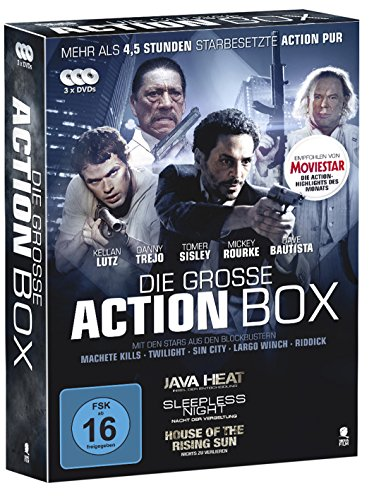 Die große Action Box - 3 actiongeladene Filme in einer Box (House of the Rising Sun, Java Heat, Sleepless Night) [3 DVDs]