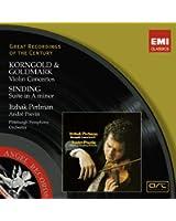 Korngold - Goldmark : Concertos pour violon - Sinding : Suite in la mineur