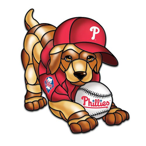 MLB Philadelphia Phillies Light-Up Puppy Sculpture: Play Ball! by The Bradford Exchange at Amazon.com