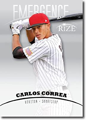 2012 RIZE Draft Emergence Paragon Card #E-6 Carlos Correa - Houston Astros (Rookie / Prospect Insert) MLB Baseball Trading Cards