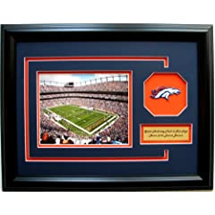 NFL Denver Broncos Photo Frame with Team Patch and Nameplate by CGI Sports Memories