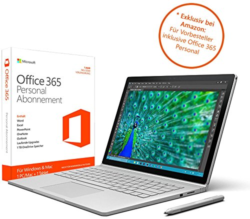 Microsoft CR7-00010 34,29 cm (13,5 Zoll) Surface Book (Intel Core i7 6. Generation, 16GB RAM, 512GB SSD, Intel HD + NVIDIA GeForce, Win10 Pro)