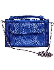 Super Drool Women Casual Blue Leatherette Clutch