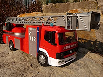 RC FEUERWEHR LKW MERCEDES BENZ mit BLAULICHT 45cm Ferngesteuert 27MHz