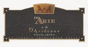 2006 C.G Di Arie Cellar Select Wines D'Arideaux 750mL