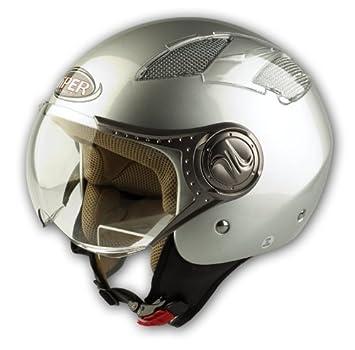 Taglia M protectWEAR Casco Jet Bike con Visiera Integrata Nero