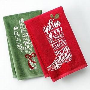 St Nicholas Square Cowboy Christmas Kitchen Towel Set Boot