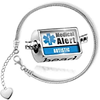 Charm Set Medical Alert Blue Autistic - Bead comes with Bracelet , Neonblond by NEONBLOND