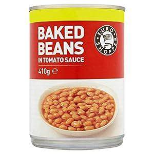 Euro Shopper Baked Beans in Tomato Sauce 410g (Pack of 12 x 410g ...