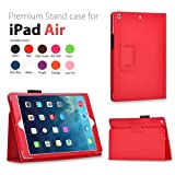 Elsse For IPad Air - Premium Folio Case For All New IPad Air 2013 Edition (iPad Air Red)