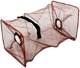 199quot Height 2 Sections Folding Fish Shrimp Cage Fishing Keepnet