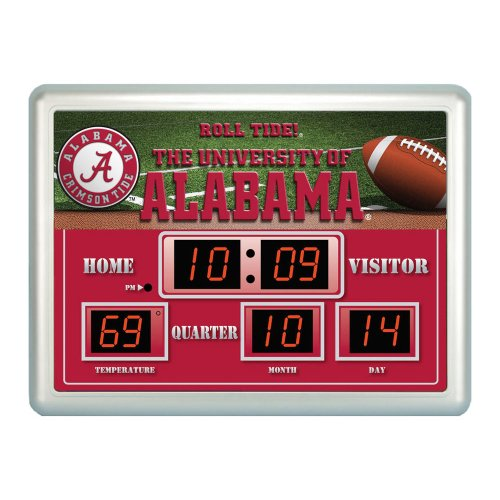 Alabama Scoreboard Clock With Thermometer