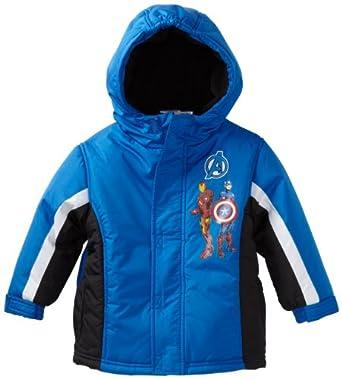 (3折)Marvel Boys 2-7 Toddler Avengers Deadly Trio Coat男童连帽保暖棉外套$21.1