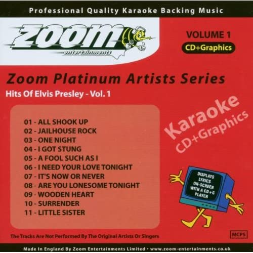 Hits-of-Elvis-Presley-Vol-1-ZPA01-Zoom-Karaoke-Elvis-Presley-Audio-CD