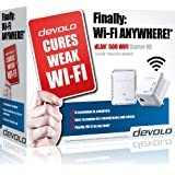Devolo dLAN 500 Wi-Fi Powerline Starter Kit (Wi-Fi Extender Kit, 1 LAN Port, Small, 500 Mbps)
