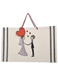 Richa Kriti Paper Cream Shopping Bag - B017IUPVWQ