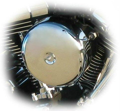Dk Custom Products Smooth Chrome Bobber Cover For Dk Custom Outlaw Air Cleaner Harley Motorcycle Dk-Ac-Cvr-Cs
