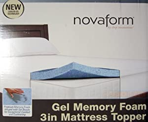 Novaform Gel Memory Foam 3 Inch Mattress Topper - Queen