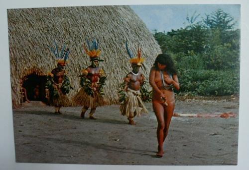antigua-postal-fotografica-old-photo-post-card-na-22-brasil-nativo-yamaricuma-ritual-dance-by-suia-a