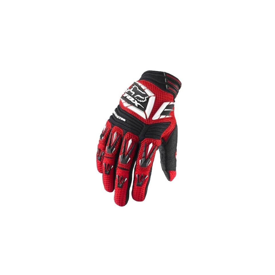 Fox Racing Pawtector Gloves   Small/White/Red