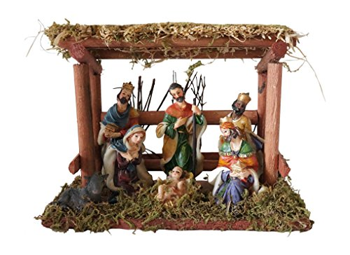 Wood-and-Ceramic-Christmas-Nativity-Scene-with-Creche