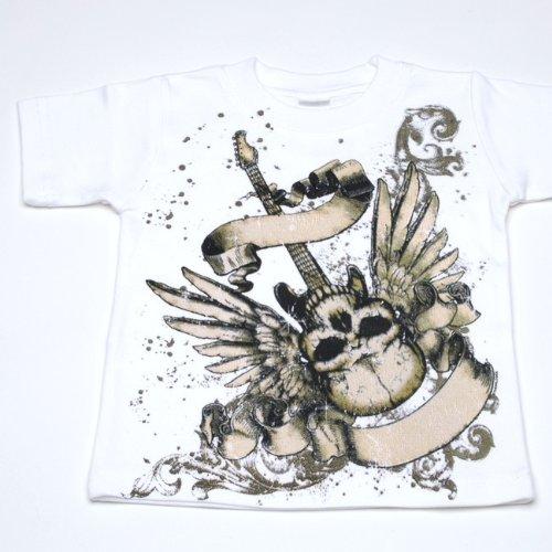 Lollipop Moon Skull Guitar Kidst-Shirt front-944012