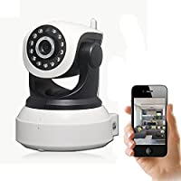 IP Camera SUPVIN WiFi Wireless Internet Home Security Trailer Camera Internet Surveillance Built-in Microphone...