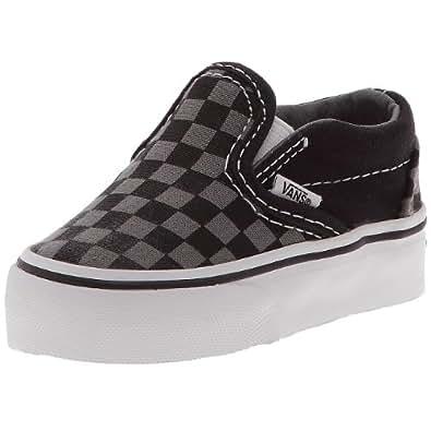 Vans Classic Slip On, Baskets mode mixte enfant - Noir (Damier gris et noir/noir/blanc), 31 EU