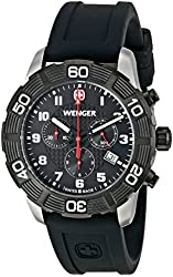 Wenger Men's 01.0853.104 Roadster Chrono Analog Display Swiss Quartz Black Watch