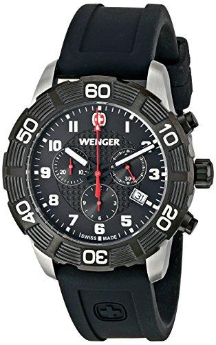 Wenger 010853104 Montre bracelet Homme, Silicone, couleur: noir