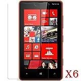 6 X Pellicole Trasparenti Proteggi Schermo LCD per Nokia Lumia 820 Anti-graffio Proteggi Display / Ultra Clear...