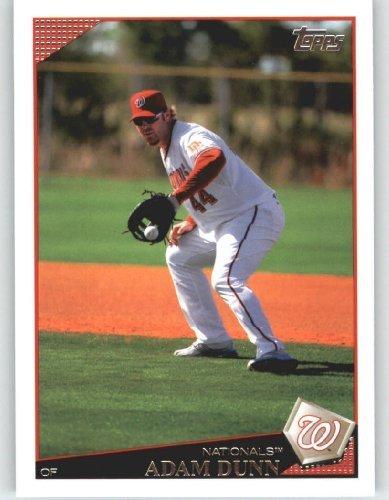 2009 Topps Baseball Card # 587 Adam Dunn - Washington Nationals - Mlb Trading Card front-633384