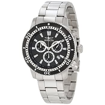 Dressed in class and sophistication, the Invicta Men's 1203 II Collection Chronograph Stainless Steel Watch will be hard to take your eyes off of when you go to check the time. Its outward appearance begins with a 45mm brushed and polished stainless ...