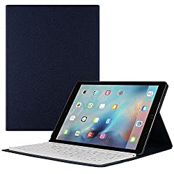 iPad Pro Keyboard, Aickar Wireless Bluetooth Keyboard Case for Apple iPad Pro 12.9 inches Wireless Bluetooth Keyboard with Tablet Stand for iOS, Android, Windows Tablets Blue