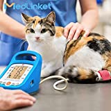 Cat Blood Pressure Monitor, MED LINKET Pet Blood Animal Monitor with 5 Different Sizes Cuffs (Color: Blue, Tamaño: 178*146*168mm)