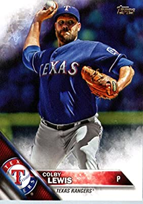 2016 Topps #305 Colby Lewis Texas Rangers Baseball Card-MINT