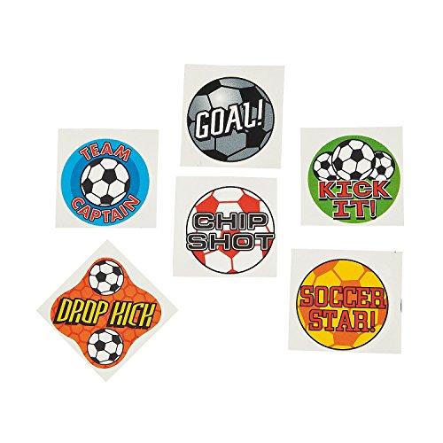 Fun Express Temporary Soccer Tattoos (6 Dozen) - 1