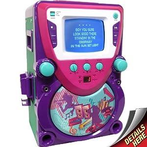 Sakar Shake It Up CD/CDG All-In-One Karaoke Machine (Purple/Magenta)
