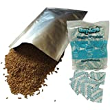 Dry-Packs 60-1 Gallon (10-Inch by 14-Inch) Mylar Bags and 60-300cc Oxygen Absorbers for Dried Dehydrated and Long Term Food Storage