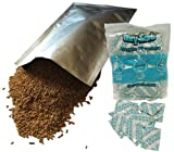 "60 - 1 Gallon (10""x14"") Mylar Bags & 60 - 300cc Oxygen Absorbers For Dried Dehydrated and Long Term Food Storage - Food Survival"