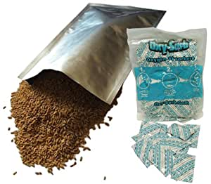 10 - 1 Gallon Mylar Bags & Oxygen Absorbers for Dried Food & Long Term Storage by Dry-Packs®!