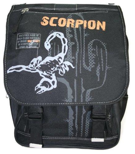 402-Herren-Bag-Street-Rucksack-Schulrucksack-Schulranzen-schwarz-Scorpion