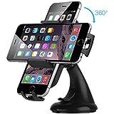 DeeXop Cell Phone Holders.Universal Car Phone Holder 360 Degree Rotating for GPS.Windshield Car Mount Holder Cradle for iPhone Samsung, Google, HTC, Motorola