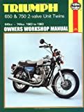 Triumph 650 and 750 2 Valve Unit Twins Owner's Workshop Manual (Motorcycle Manuals)