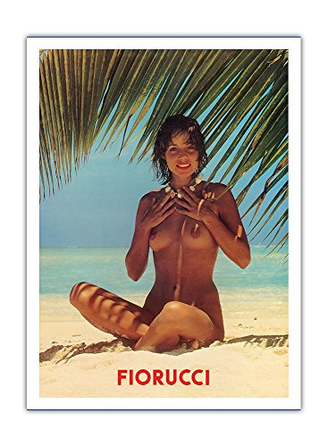 fiorucci-nude-girl-on-beach-vintage-advertising-poster-c1970s-premium-290gsm-giclee-art-print-12in-x