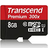 Transcend 8GB Premium microSDHC Class 10 UHS-I Memory Card
