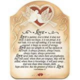 Love - 1 Corinthians 13 Embossed Wood Plaque with Easel