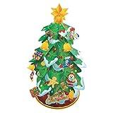 【クリスマス景品】ペーパークラフト クリスマスツリー グリーン(10入)   / お楽しみグッズ(紙風船)付きセット [おもちゃ&ホビー]